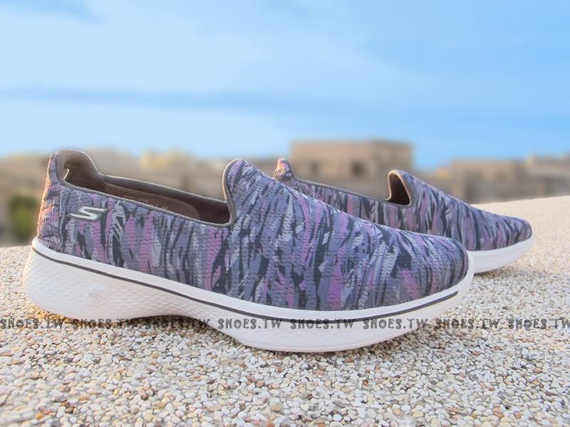 Shoestw【14164GYPR】SKECHERS 健走鞋 Gowalk 4 紫渲染 彈力升級 四代