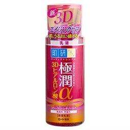 日本 ROHTO 樂敦 肌研 極潤α3D保濕柔膚乳液 140ML  紅瓶 ☆真愛香水★