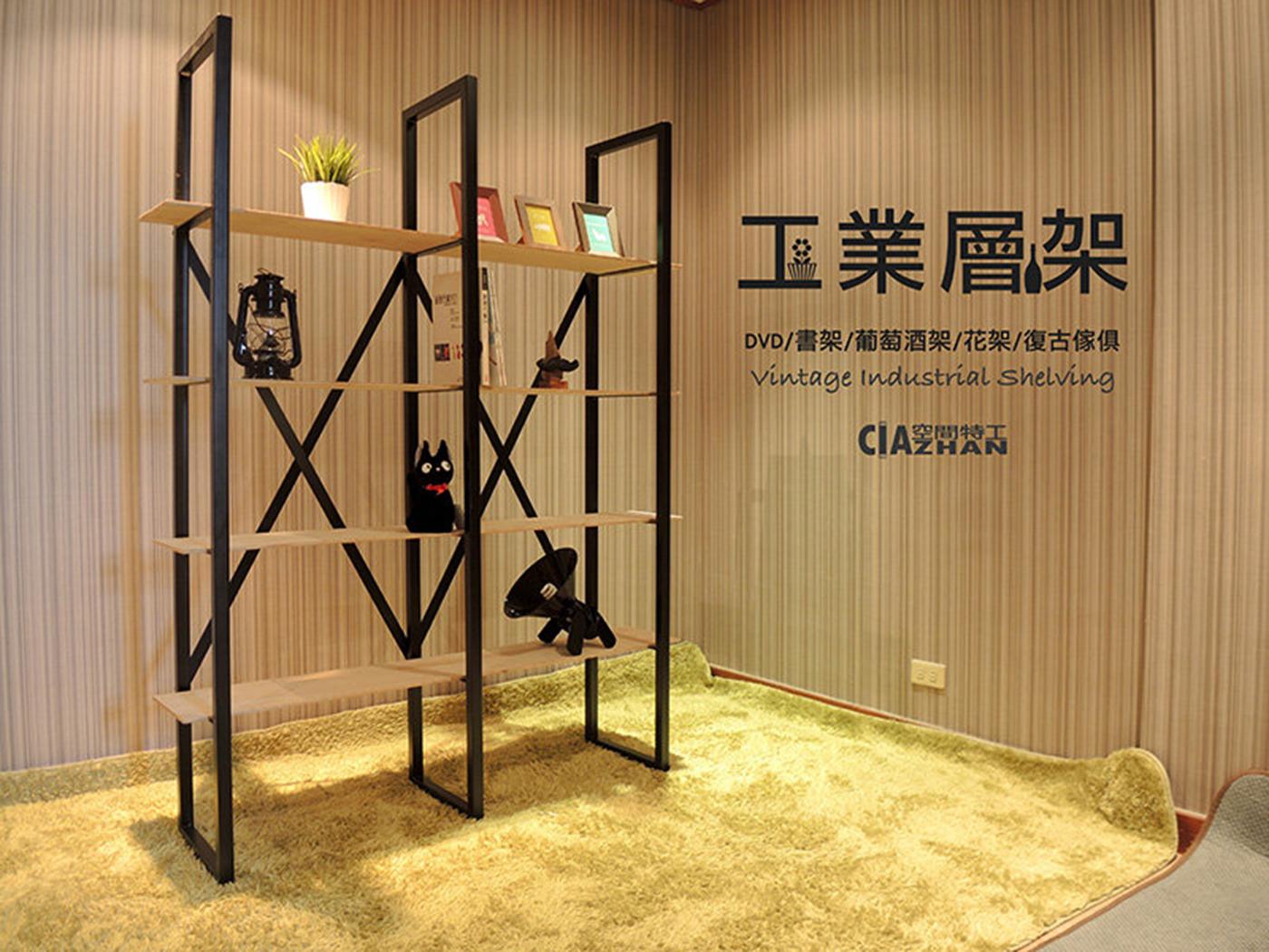 loft工業層架♞空間特工♞30mm極粗方鐵管!18mm木板 工業風質感傢俱 櫥櫃 diy收納 四層收納櫃 可訂製 免運費