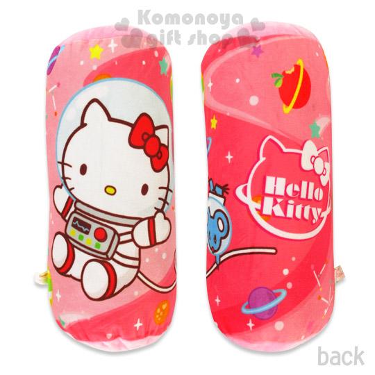〔小禮堂〕Kitty 圓筒絨毛抱枕《粉.太空人.老鼠.星球》Sanrio55週年系列