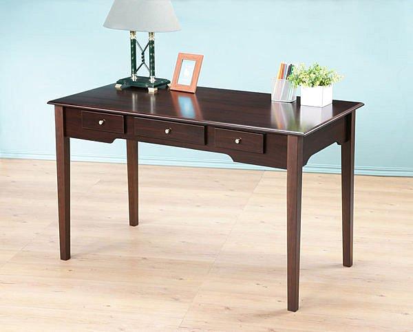 120cm優雅三抽書桌 電腦桌 工作桌  美甲桌  兩色【馥葉】【型號DE213】簡易組裝