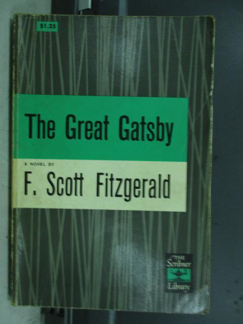 【書寶二手書T1/原文小說_JRK】The great gatsby_F.Scott fitzgerald