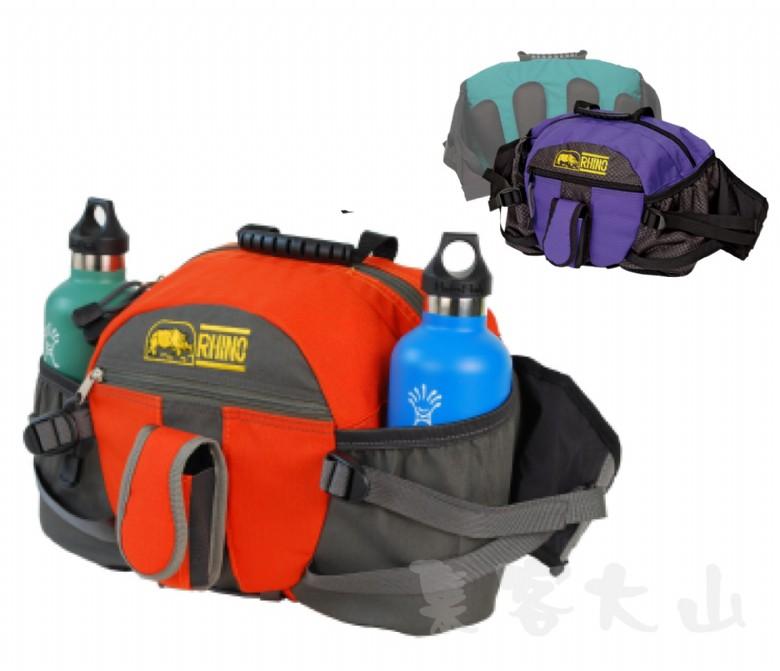 【露營趣】中和 送手電筒 犀牛 RHINO 330 高級 雙水壼腰包 運動要包 臀包 休閒腰包