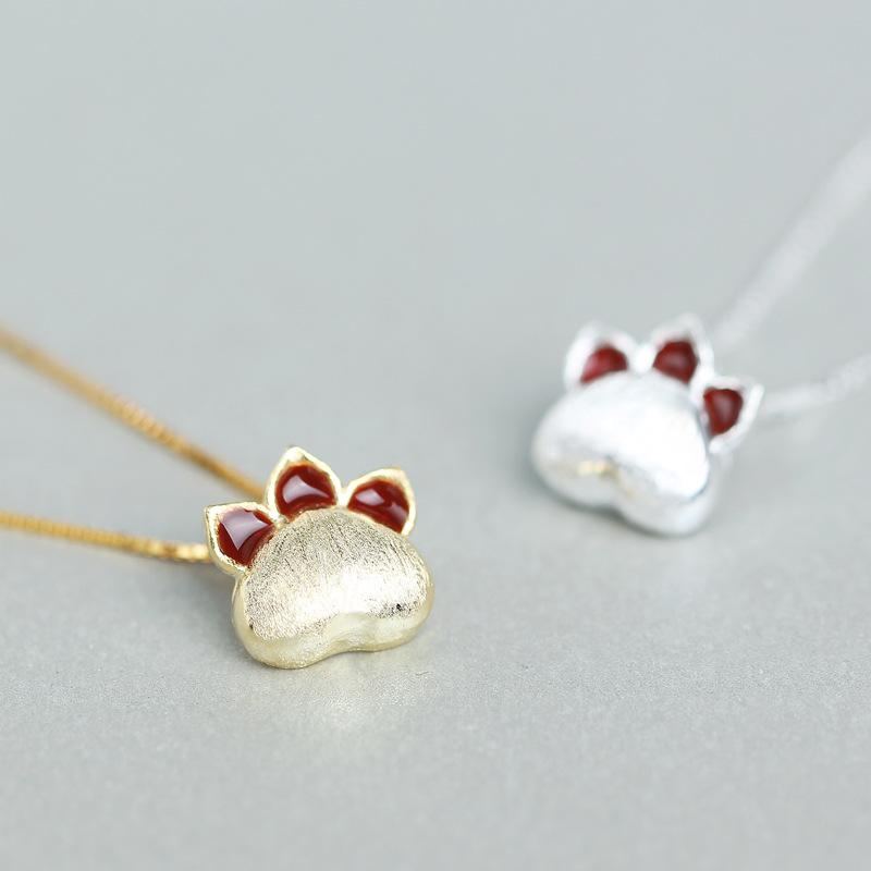 Tokyo Alice 925純銀貓掌項鍊,項鏈飾品首飾銀飾貓咪華麗甜美鎖骨鏈(s0000049)