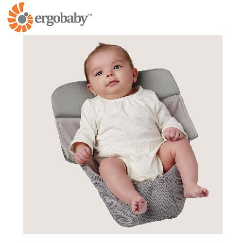美國【 Ergobaby 】功能性透氣網布心連心嬰兒護墊  (涼感透氣墊) (背巾專用)- 灰