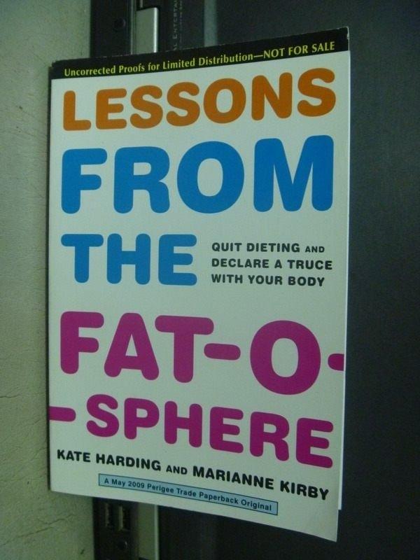 【書寶二手書T9/養生_KQT】Lessons From the Fat-o-sphere_ Kate Harding