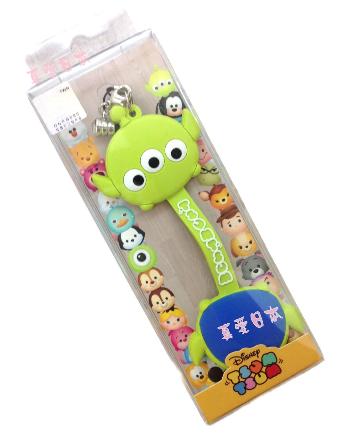 【真愛日本】16072200009吊飾捲線器-三眼怪   迪士尼 玩具總動員 TOY  耳機集線器 收線器 正品