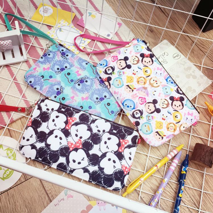 PGS7 日本迪士尼系列商品 - 迪士尼 花布 觸控 直式 手機袋 手機包 手機套 收納包 iPhone