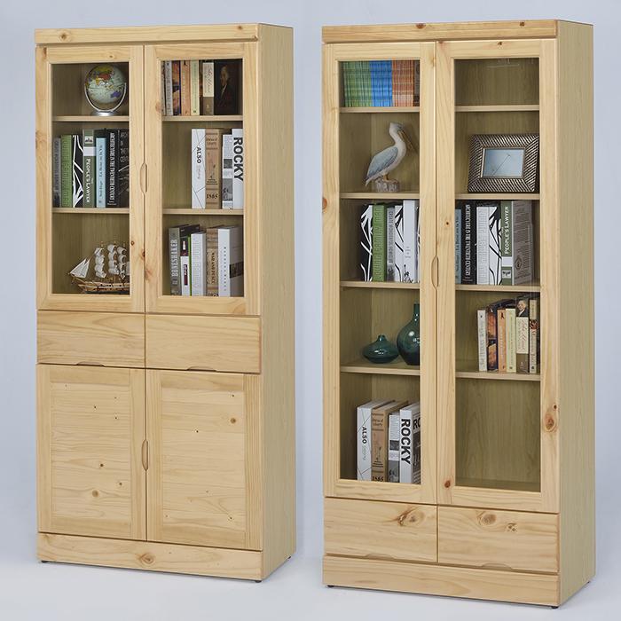 【尚品傢俱】 ※自運價※ Q-GF-E02 松木實木3x6尺中抽書櫃/ 書櫥