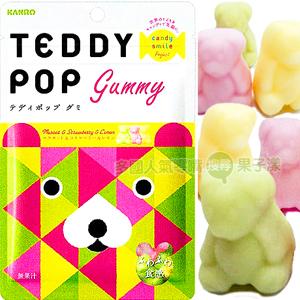 日本甘樂Teddy Pop泰迪熊造型軟糖 [JP402]