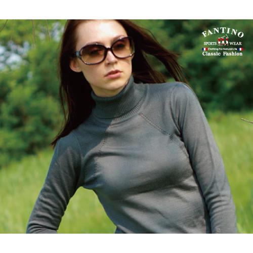 【FANTINO】必備內搭,可水洗高領貼身保暖羊毛衣(灰)187204