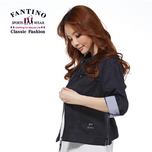 【FANTINO】女款 輕旅行七分袖小外套(丈青)375102