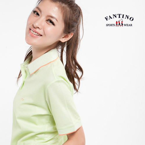 【FANTINO】零碼出清-70支雙絲光棉舒適POLO衫46/M(淺草綠)611603