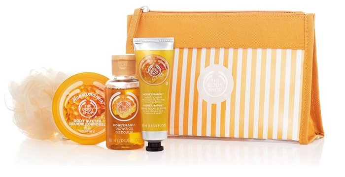 【彤彤小舖】The Body Shop 雨林花叢蜂蜜旅行組 沐浴膠 滋養霜 護手霜 沐浴球 4件組