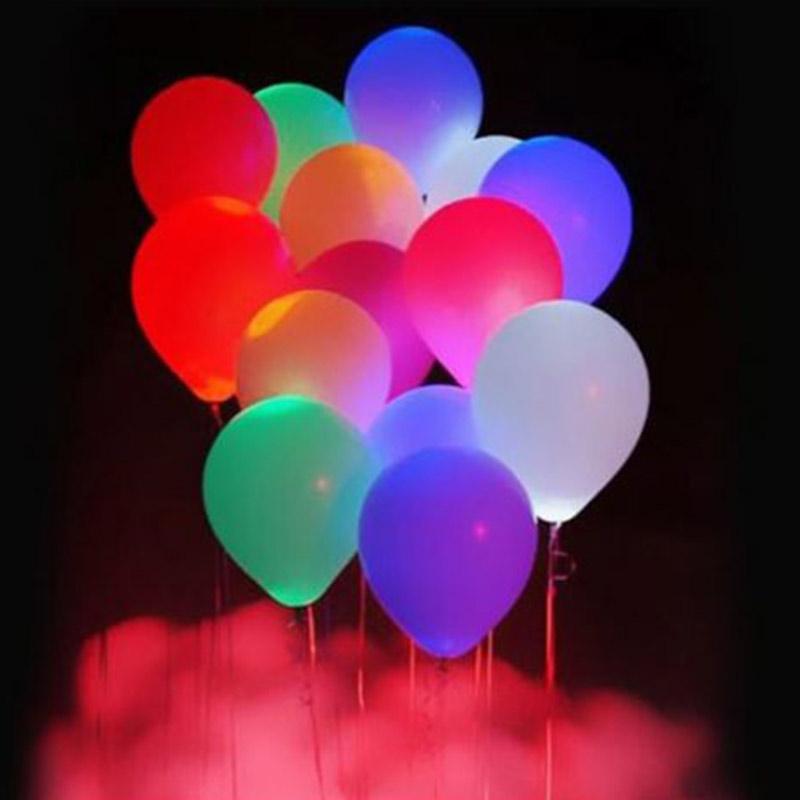 LED夜光發光氣球 (5入/包) 不挑色