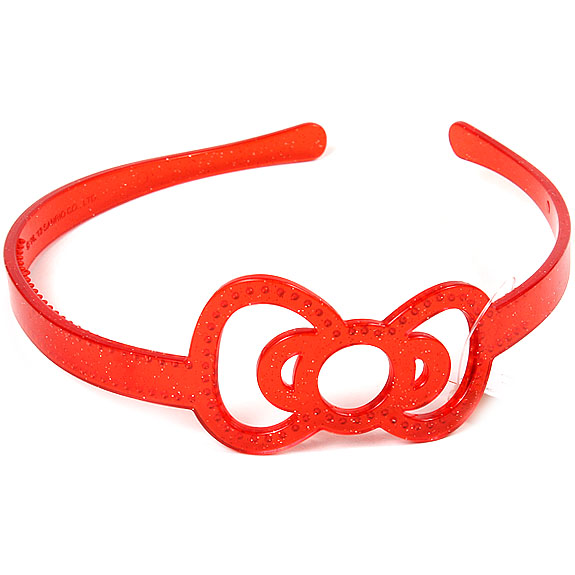 【真愛日本】16042800032髮箍-蝴蝶結紅  三麗鷗 KITTY 髮圈 髮箍 生活用品 美妝