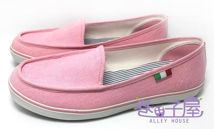 【巷子屋】Limitless利米堤司 女款素雅純色懶人休閒鞋 [2023] 粉色 MIT台灣製造 超值價$198