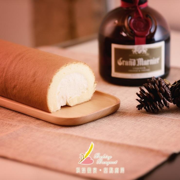 【烘焙饗宴】冰心生乳捲---原味橙香 (約420g)