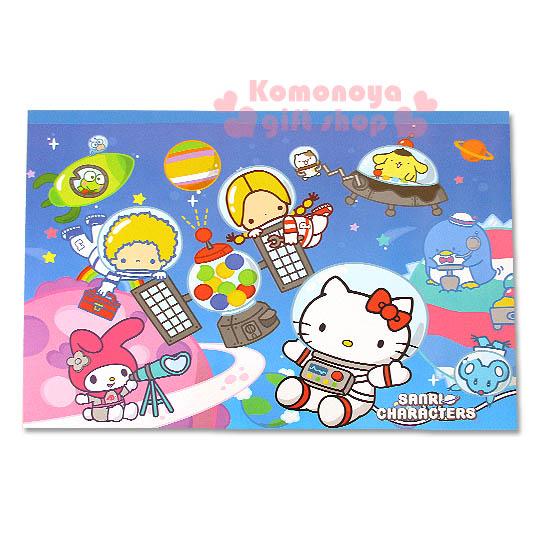 〔小禮堂〕Hello Kitty 精緻畫圖本《藍.太空裝.多角色.橫式》