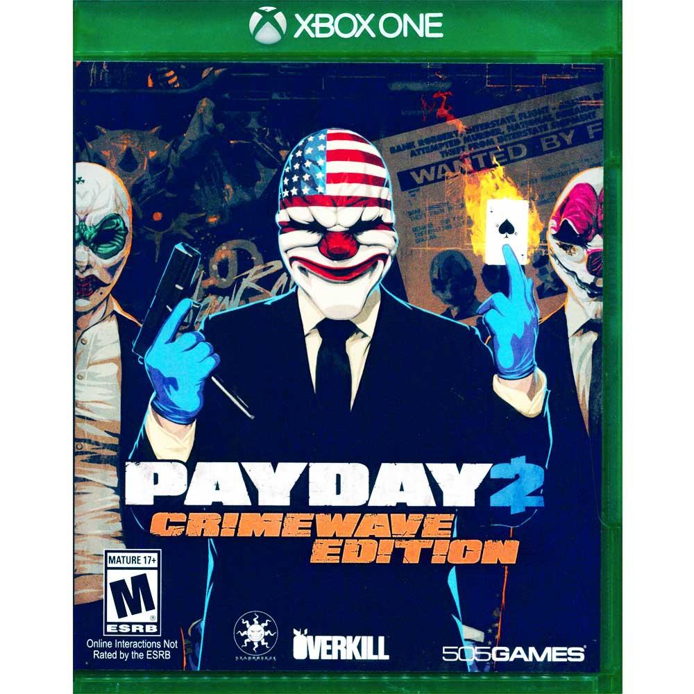 (全新已拆)XBOX ONE 劫薪日 2 犯罪狂潮版 英文美版 PAYDAY 2: CRIMEWAVE EDITION