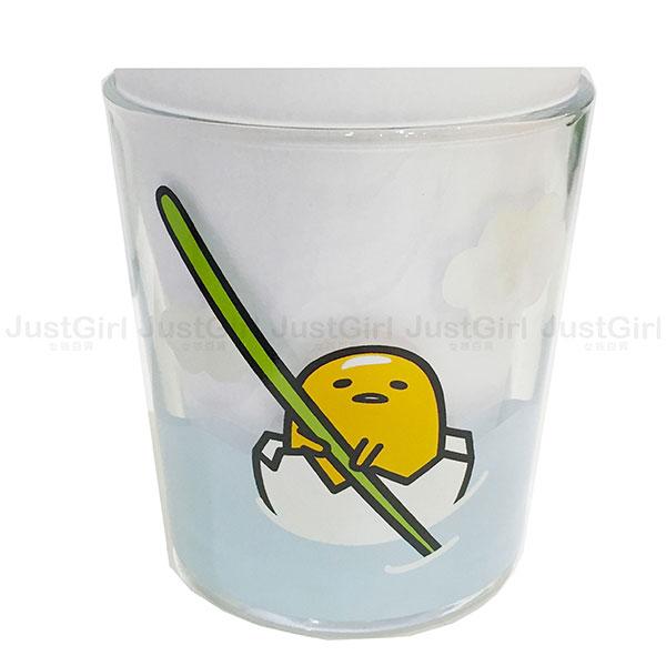 蛋黃哥 gudetama 玻璃透明水杯 255ml 杯子 餐具 正版日本進口 * JustGirl *