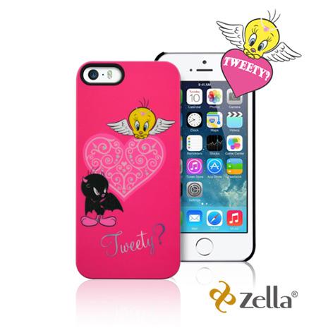 [福利品] Zella iPhone5/5S Tweety天使與魔鬼系列保護殼-粉紅