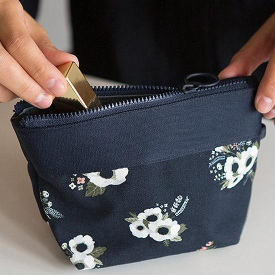 ♚MY COLOR♚韓版印花款化妝包 拉鍊 分類 收納 旅行 護照 外幣 化妝品 相機 小物 行動【B53】