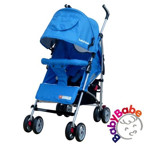 【BabyBabe】加寬全罩平躺傘車-藍
