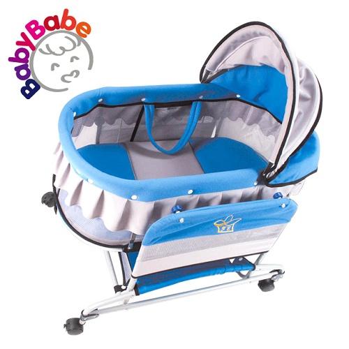 【BabyBabe】手動水平搖床/天空藍