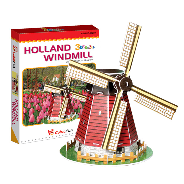 【3D Puzzle】迷你建築系列-迷你荷蘭風車