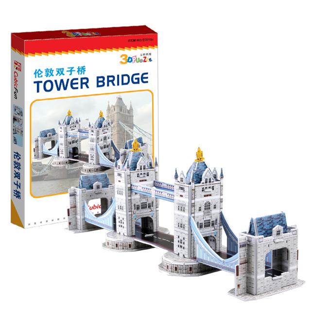【3D Puzzle】迷你建築系列-迷你倫敦塔橋