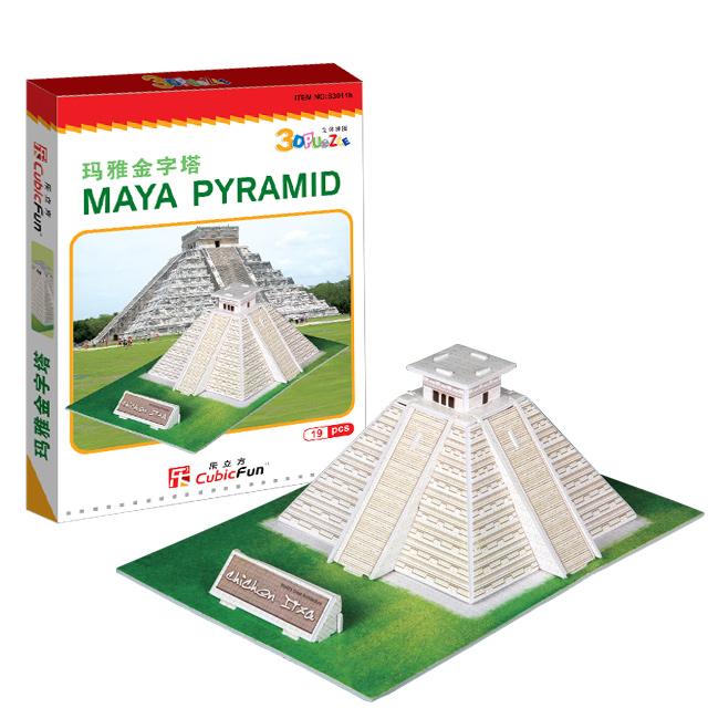 【3D Puzzle】迷你建築系列-迷你墨西哥瑪雅金字塔