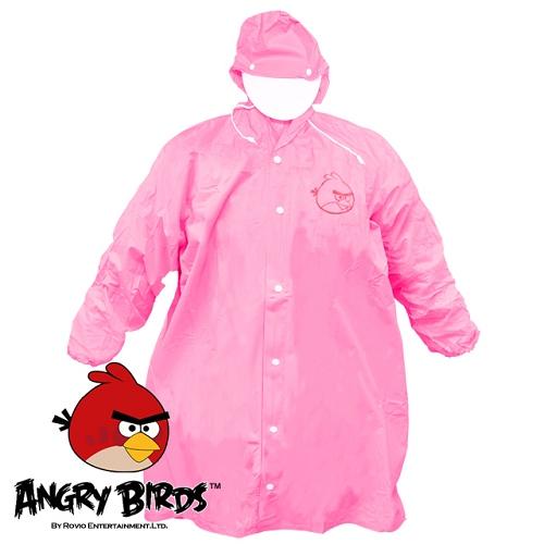 [Waterproof] 憤怒鳥全開式PVC兒童雨衣(粉紅)(221752PK)