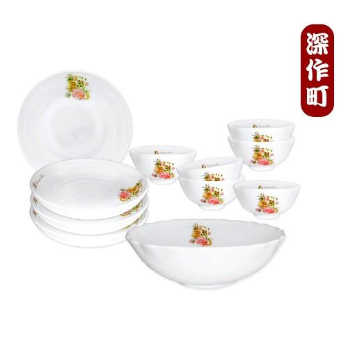 【安妮兔】玫瑰強化耐熱瓷器碗盤組/6碗4菜1湯(25UP-C2650)