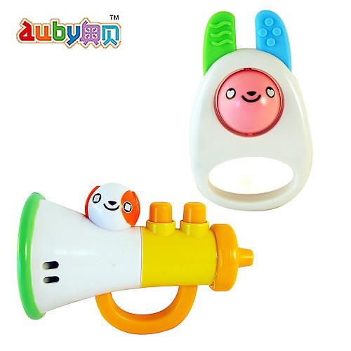《auby愛比》兔兔喇叭手搖鈴組 A0117_bb001