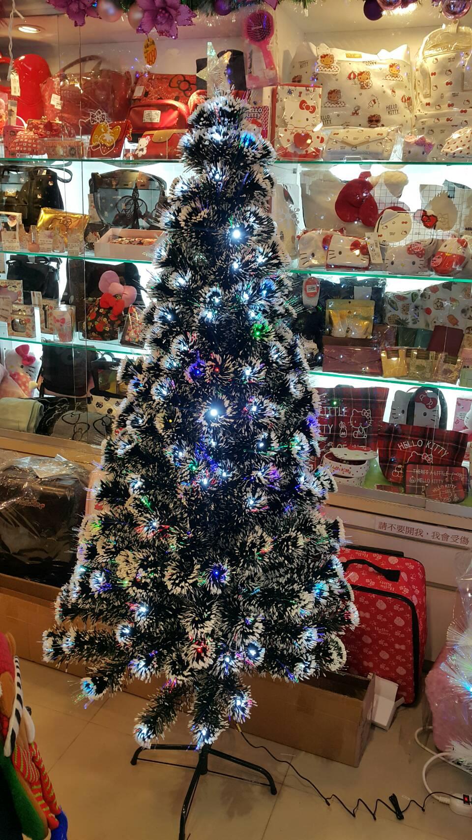 X射線【X020011】星星七彩光纖聖誕樹-6尺(不含飾品),松針樹/台灣製/聖誕樹/聖誕佈置/聖誕空樹/聖誕造景
