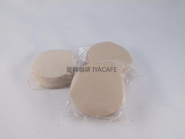 《愛鴨咖啡》9號丸型濾紙無漂白 100入/盒 直徑68mm