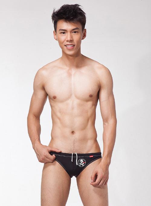 [漫朵拉情趣用品]【LOOCH】黑色印花三角泳褲(XL) DM-9263428