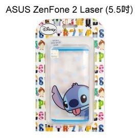迪士尼透明軟殼 [手印] 史迪奇 ASUS ZenFone 2 Laser ZE550KL (5.5吋)【Disney正版授權】