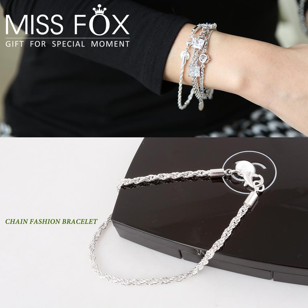限時5折 鍍925純銀手鍊 時尚枷鎖 細緻手鍊 JJ1077