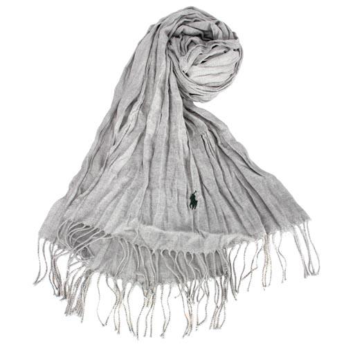面披肩围巾-浅灰色