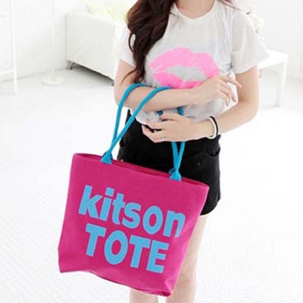 韓系kitson大容量單肩帆布包包(現貨+預購)