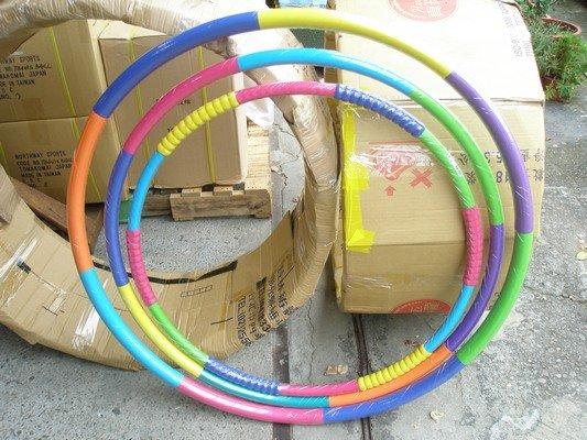 1斤安全呼啦圈 環狀橡膠泡棉內加重鐵管呼拉圈 直徑87cm 台灣製/一個入{促299}