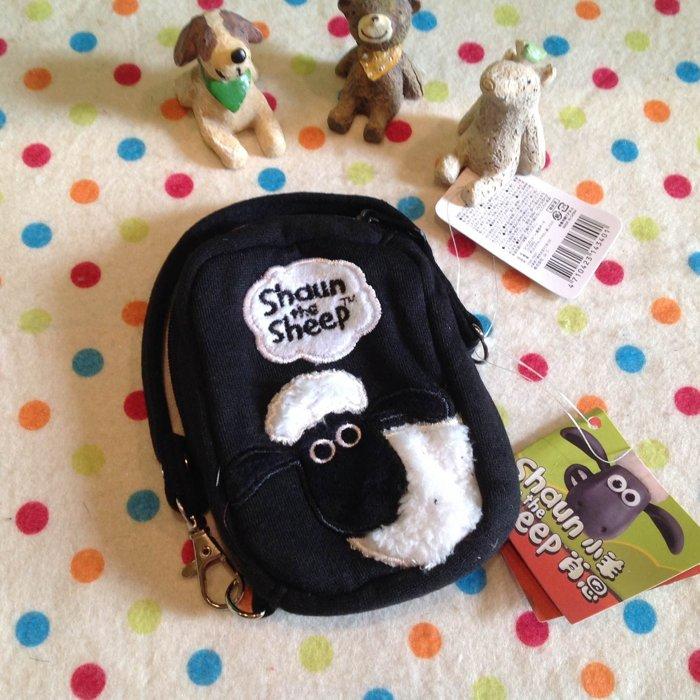 =優生活=日本原單笑笑羊 小羊肖恩Shaun the Sheep 立体刺繡零錢包 鑰匙包 手機袋 收納包