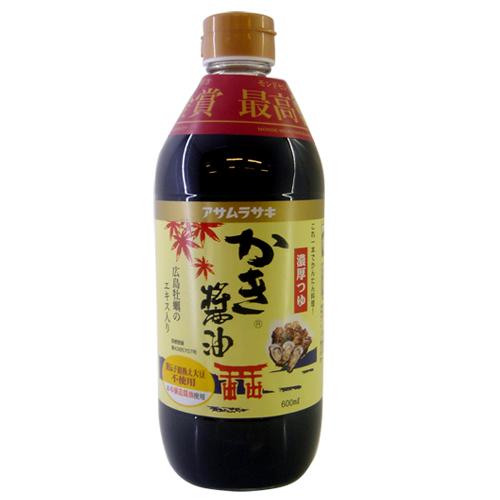 日本朝紫廣島牡蠣醬油600ML
