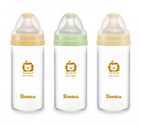 『121婦嬰用品館』辛巴 超輕鑽寬口直圓玻璃小奶瓶 180ml