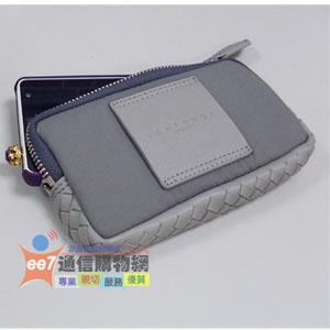 設計師 方國強 Khieng (K40/K-40)手工編織拉鍊包(手機袋)◆適用於4~4.7吋手機◆再送Khieng 皮套(K-50)