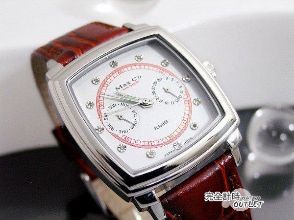 【完全計時】OUTLET手錶館│Max Co 真鑽系列 多功能腕錶 (MA10003J-1W) 禮物