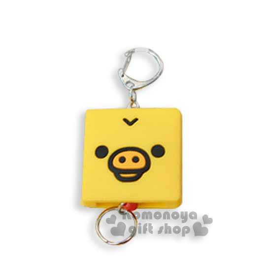 〔小禮堂〕懶懶熊 小雞 伸縮證件帶《黃.方臉》