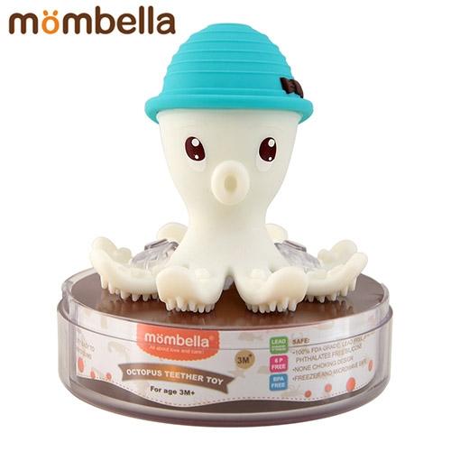 【安琪兒】【mombella】樂咬咬章魚固齒器-盒蓋裝(4色)